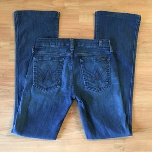 "7FAM ""A"" Seven Jeans Pocket Bootcut Dark Wash 27"